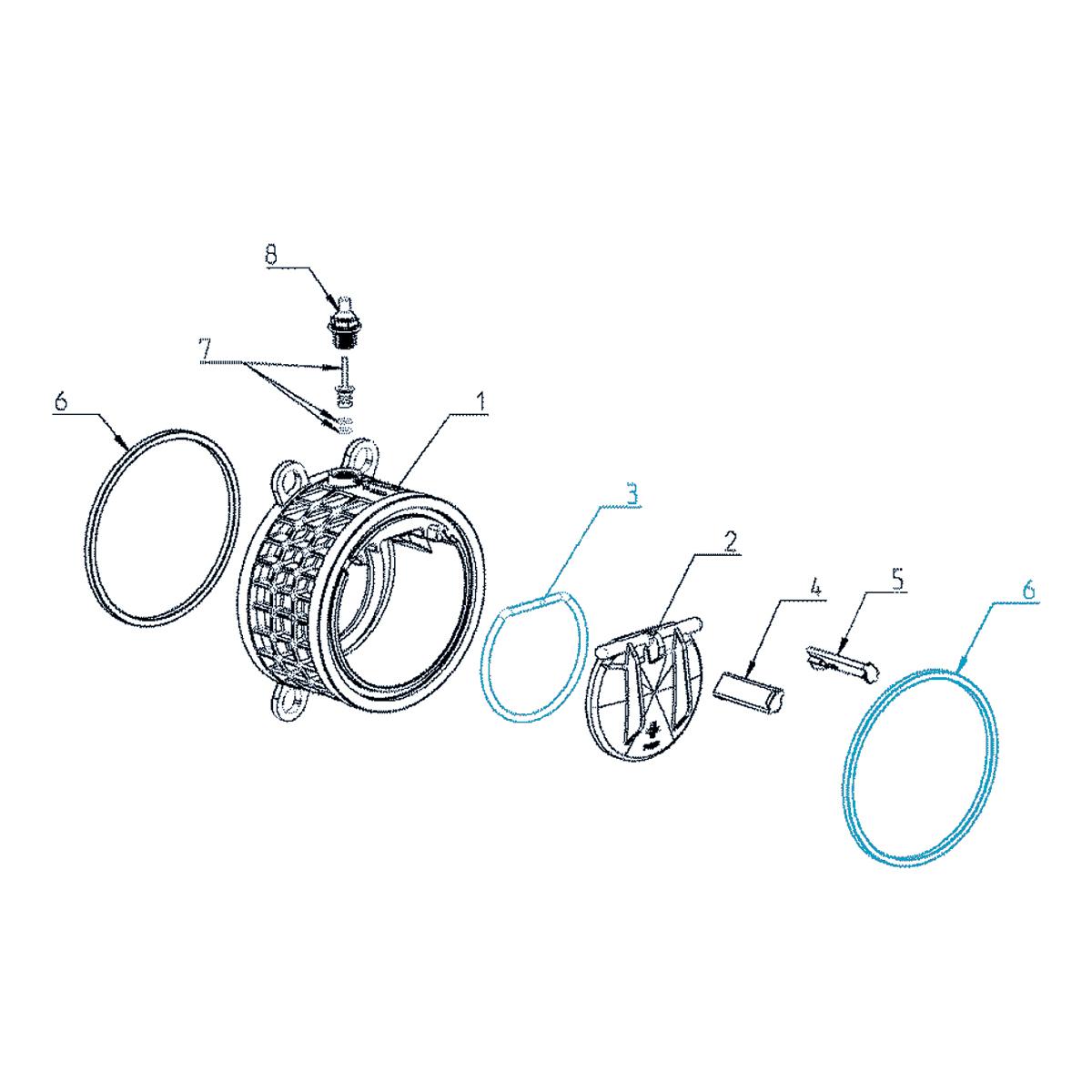 Sealing set EPDM (+ 2x o-ring for indication pin Sealing set EPDM (+ 2x o-ring for indication pin