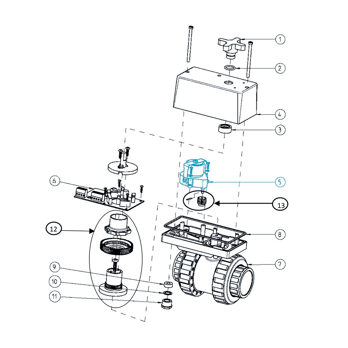 Getriebemotor - Ersatzteilset für EO510 ECO 230VAC Getriebemotor - Ersatzteilset für EO510 ECO 230VAC