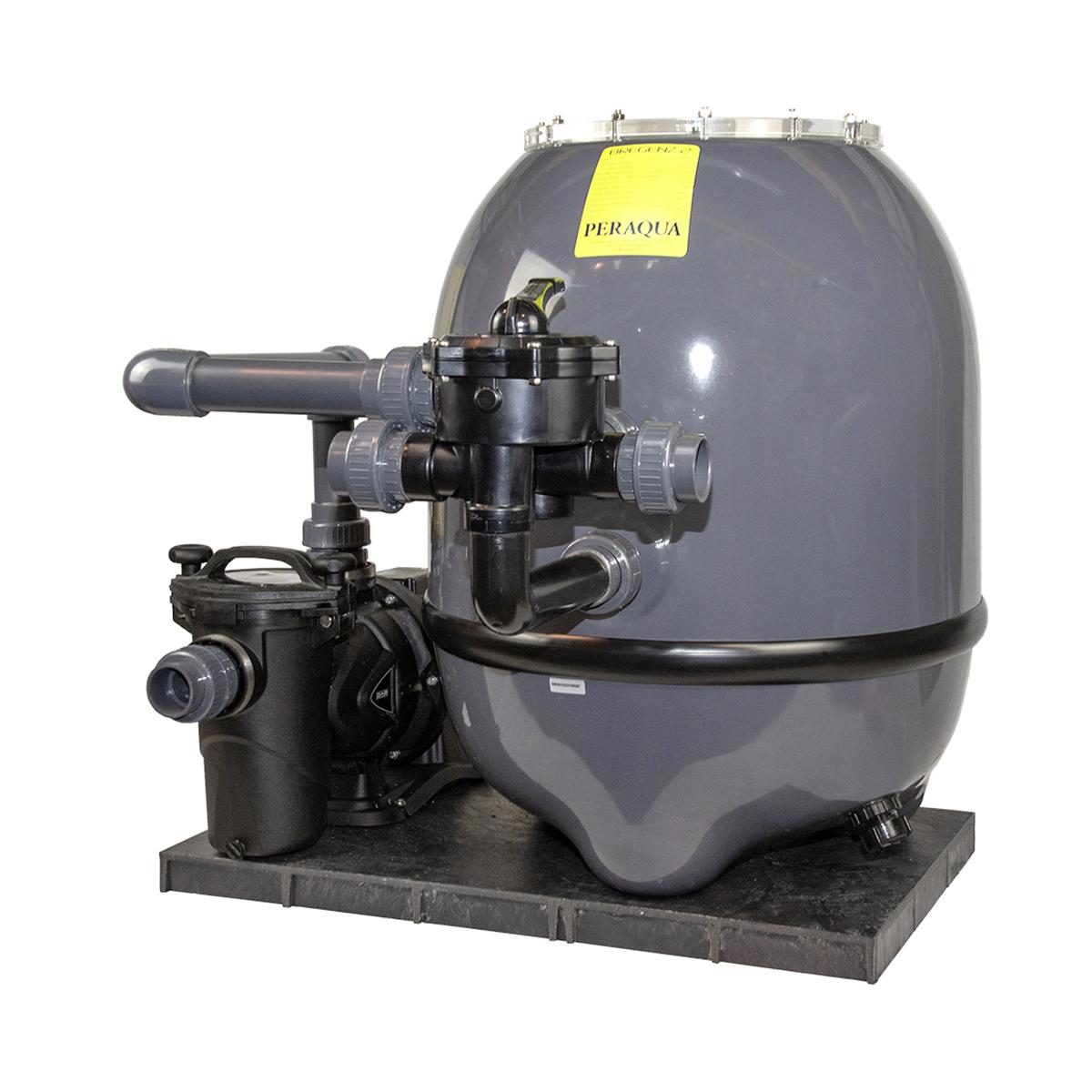"""Compact filter set BREGENZ II d520, graphite grey RAL7024, d400 filter lid transparent. Praher 1½"""" 6 way backwash valve set,  Europro filter pump 50M 11m³/h, 230V Compact filter set BREGENZ II d520, graphite grey RAL7024, d400 filter lid transparent. Praher 1½"""" 6 way backwash valve set,  Europro filter pump 50M 11m³/h, 230V"""