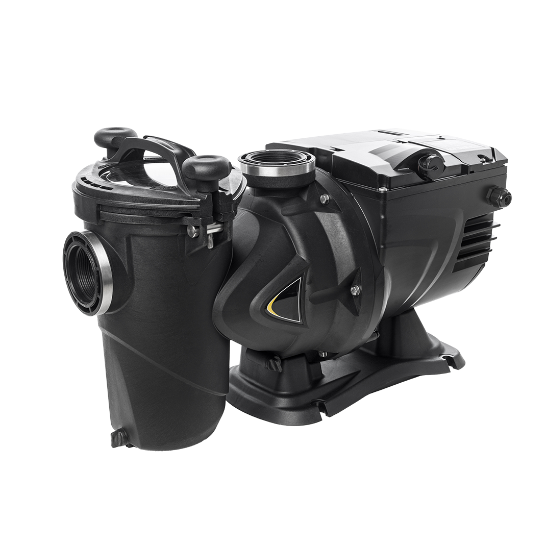 """Swimming pool pump E.Pro 150, variable speed, self-priming, female thread 2"""", 27m³/h at 15,4m, 230V, P1 - 1,25kW, P2 - 1,1kW, with large pre-filter Swimming pool pump E.Pro 150, variable speed, self-priming, female thread 2"""", 27m³/h at 15,4m, 230V, P1 - 1,25kW, P2 - 1,1kW, with large pre-filter"""