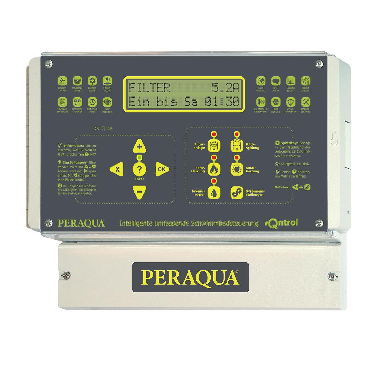 iQntrol-P4 Filtersteuerung inkl. Solarsteuerung und Rückspülsteuerung 230V und 400V iQntrol-P4 Filtersteuerung inkl. Solarsteuerung und Rückspülsteuerung 230V und 400V