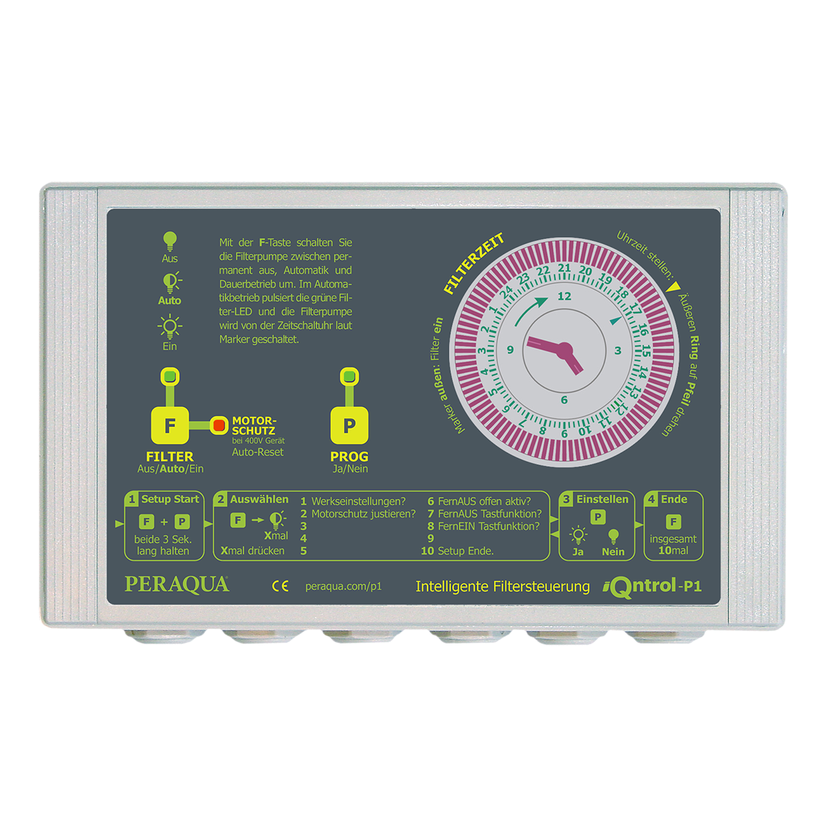 iQntrol-P1 pump control 230 without temperature modulator and without motor protection iQntrol-P1 pump control 230 without temperature modulator and without motor protection