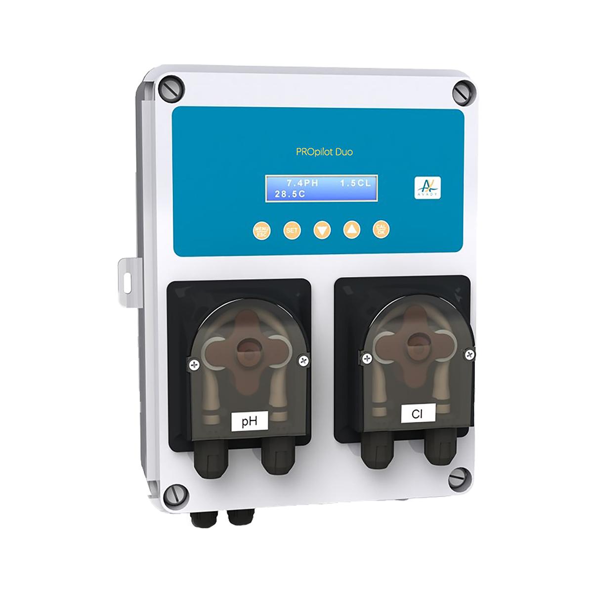 Smart Wasseraufbereitungssystem PROpilot Duo pH Redox, 1,5l/h pH Minus und Chlordosierung, inkl. 2 in 1 Sensorhalter, d50 & d63  Smart Wasseraufbereitungssystem PROpilot Duo pH Redox, 1,5l/h pH Minus und Chlordosierung, inkl. 2 in 1 Sensorhalter, d50 & d63