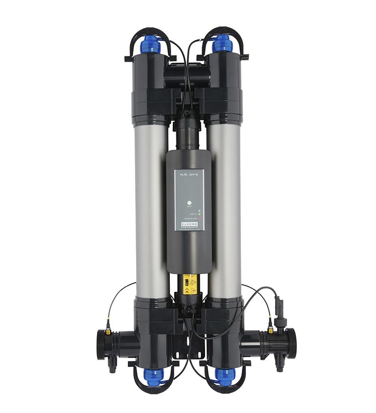 Smart UV-C Wasseraufbereitung 55W 220-240V,  pmax. 3bar, Vmax 21  m3/h, d63/50,  Lebensdauer Lampe (9000 Std.) inkl. Durchfluss Schalter und analoger Anzeige der Lampenlebensdauer Smart UV-C Wasseraufbereitung 55W 220-240V,  pmax. 3bar, Vmax 21  m3/h, d63/50,  Lebensdauer Lampe (9000 Std.) inkl. Durchfluss Schalter und analoger Anzeige der Lampenlebensdauer