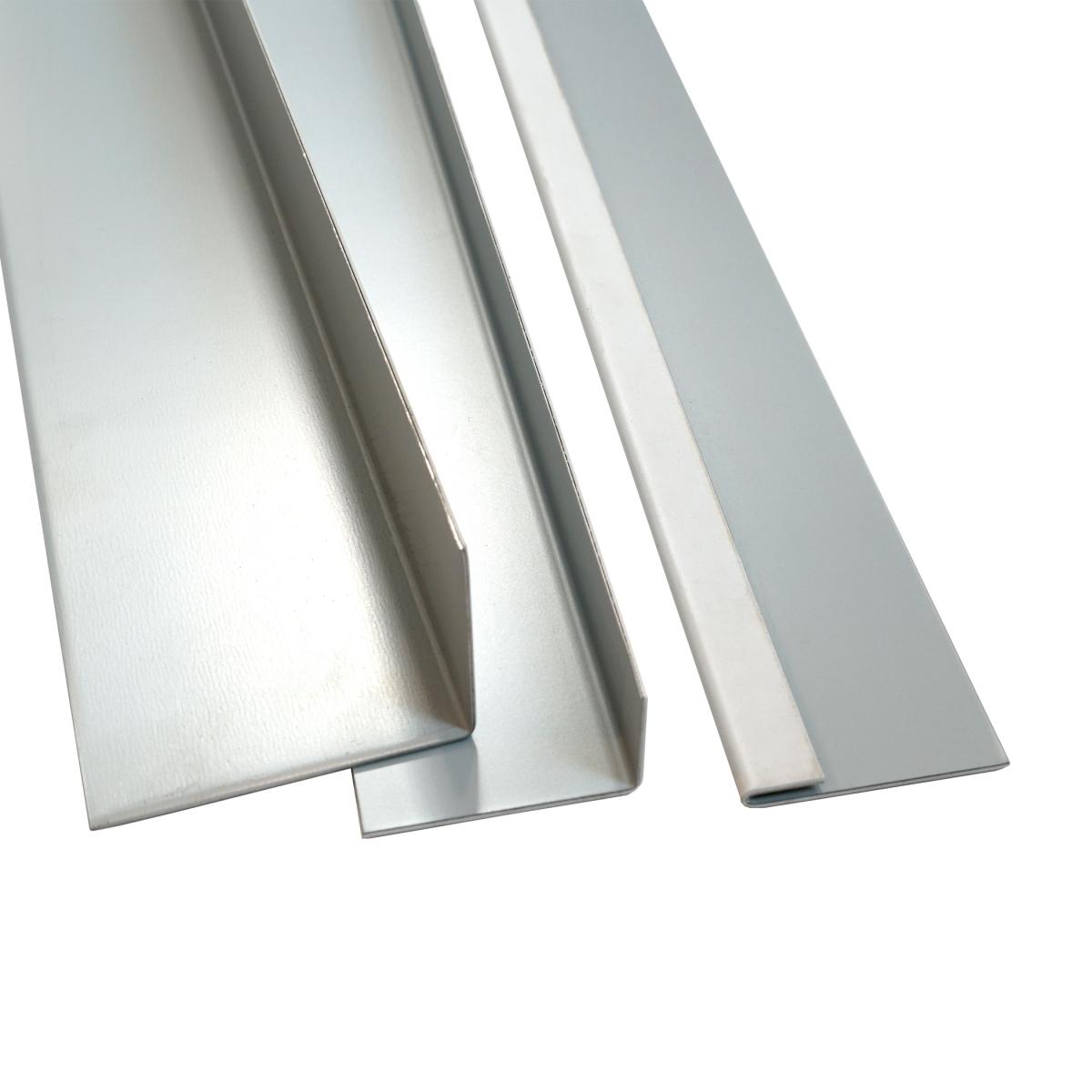 Blechwinkel 90° beschichtet, 50x50x2000 mm, aussen beschichtet, grau Blechwinkel 90° beschichtet, 50x50x2000 mm, aussen beschichtet, grau