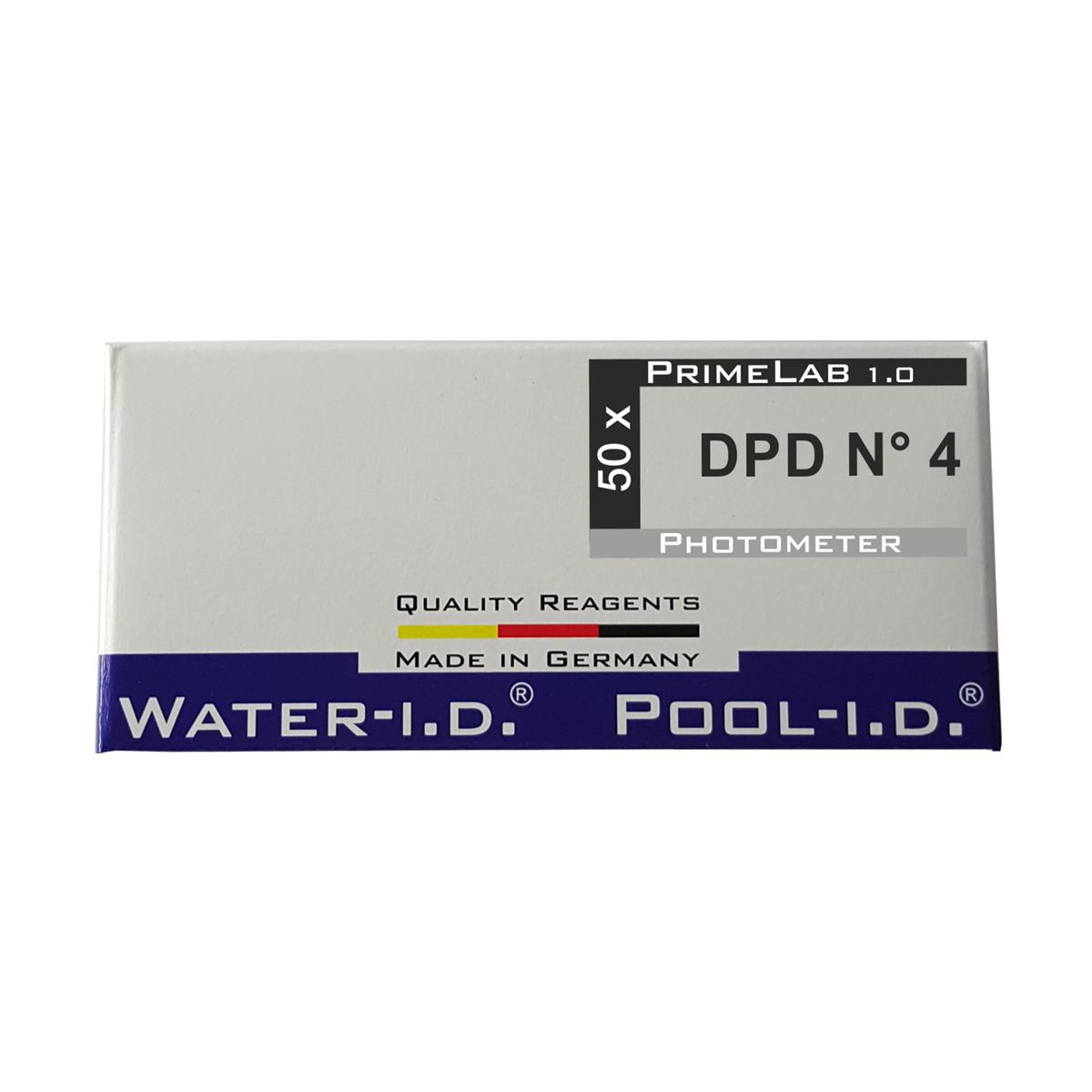 DPD 4 aktiver Sauerstoff Tabletten für Smart Pool Lab 1.0 Photometer, 1 VE = 50 Stk. DPD 4 aktiver Sauerstoff Tabletten für Smart Pool Lab 1.0 Photometer, 1 VE = 50 Stk.