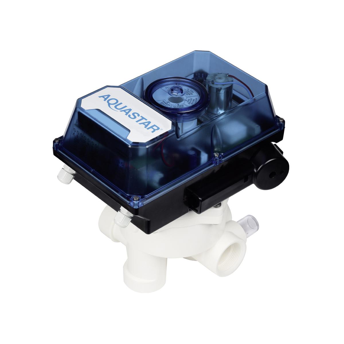 """AquaStar Comfort 3001-230 für V6 ND 1 1/2""""  100-240 VAC, inkl 11/2"""" Praher V6 Ventil mit Astral/IML/Certikin/Espa Ventilset, Abstand 125mm, weiß AquaStar Comfort 3001-230 für V6 ND 1 1/2""""  100-240 VAC, inkl 11/2"""" Praher V6 Ventil mit Astral/IML/Certikin/Espa Ventilset, Abstand 125mm, weiß"""