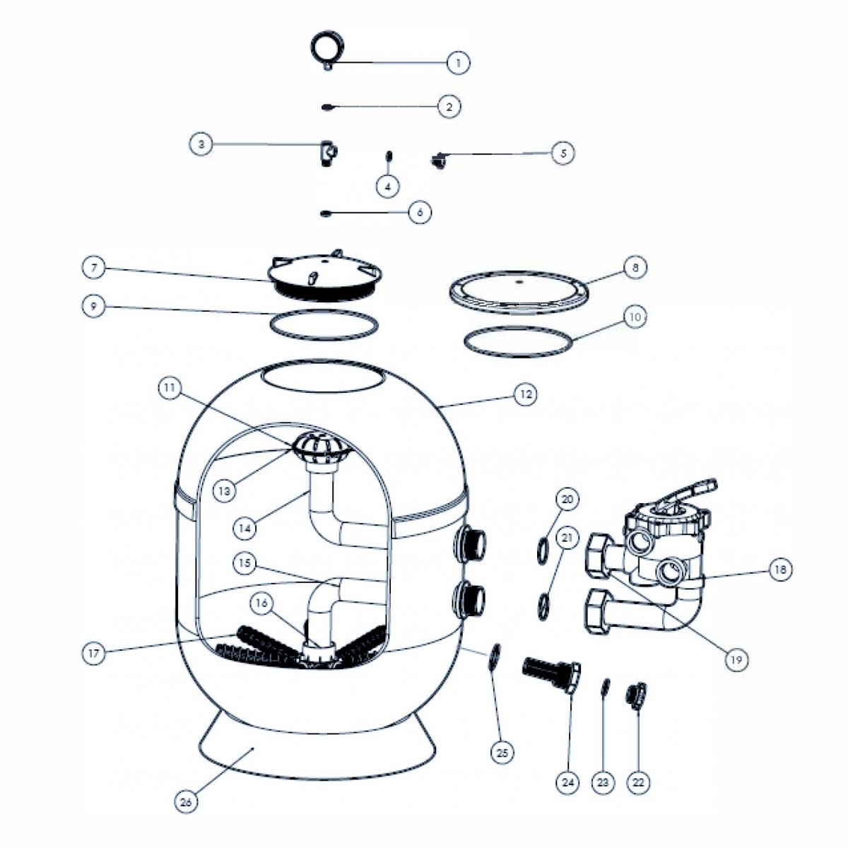 Entleerungsset für VIENNA II Filter Entleerungsset für VIENNA II Filter