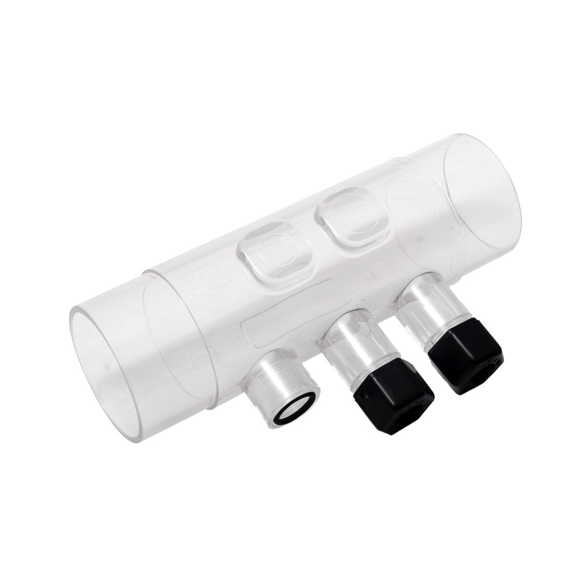 Transparent electrode and injector holder + O-ring Transparent electrode and injector holder + O-ring