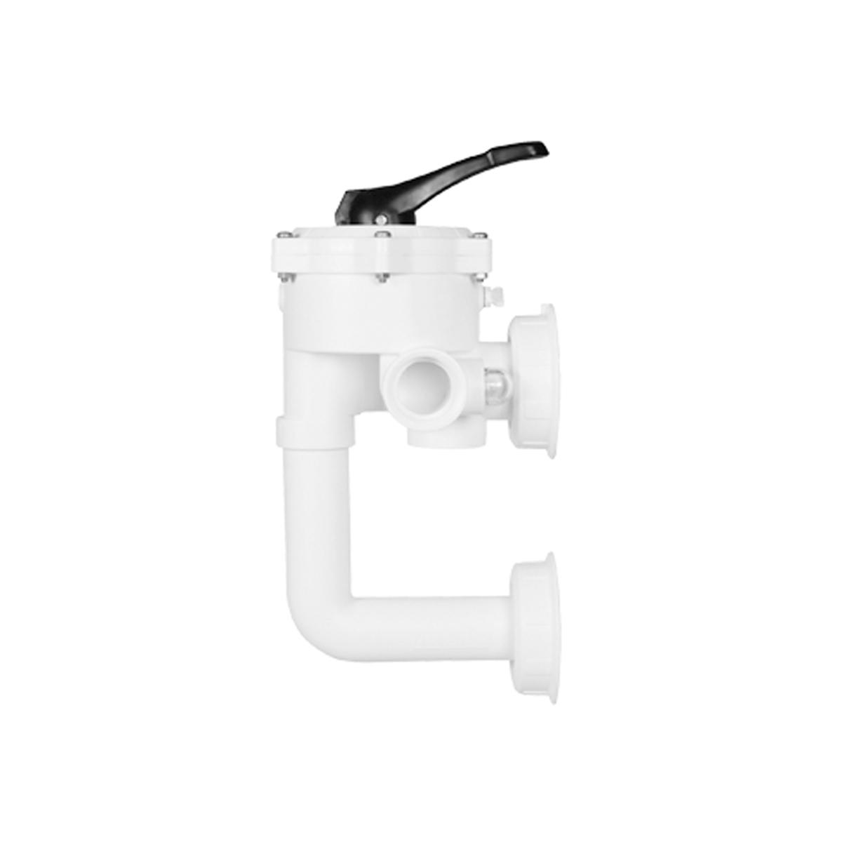 "Back wash valve V6 ND SM10 3 1 1/2"" ABS white BSP thread, Top+Bottom slip d50 metric MOP 3,5 bar NBR tpe incl. pipe-system single packed, pipe elbow distance 155 mm, Praher-label INNSBRUCK  glued Back wash valve V6 ND SM10 3 1 1/2"" ABS white BSP thread, Top+Bottom slip d50 metric MOP 3,5 bar NBR tpe incl. pipe-system single packed, pipe elbow distance 155 mm, Praher-label INNSBRUCK  glued"