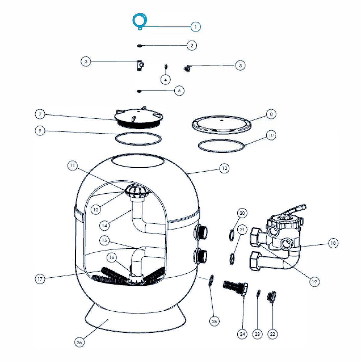 Manometer for  VIENNA II filter Manometer for  VIENNA II filter
