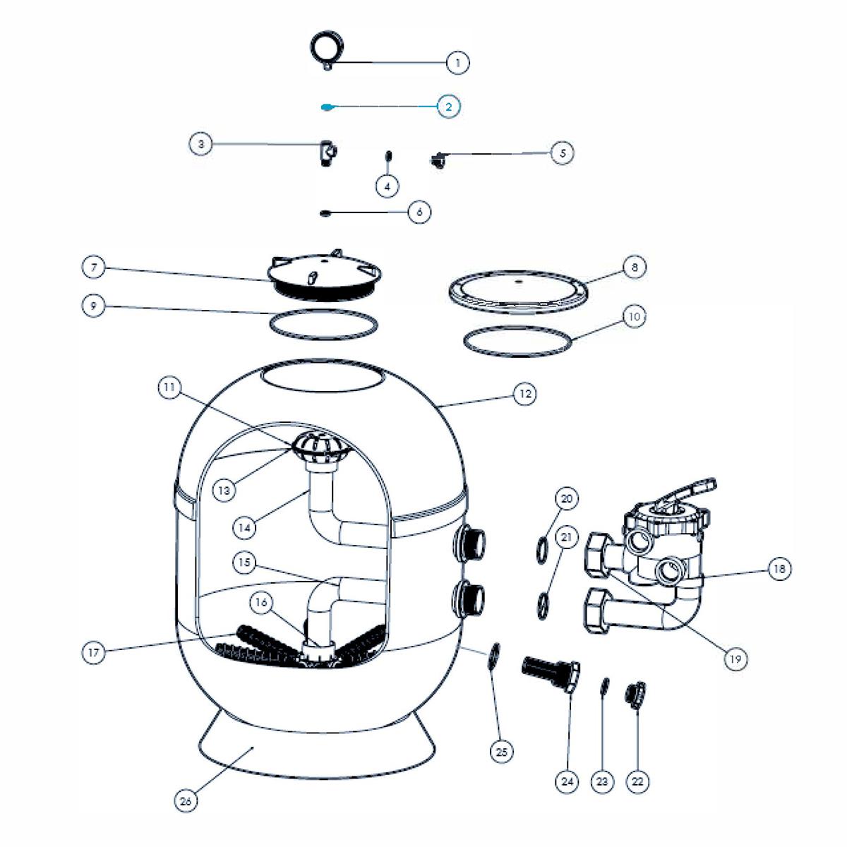 Flachdichtung für Manometer T-Stück für VIENNA II Filter  Flachdichtung für Manometer T-Stück für VIENNA II Filter