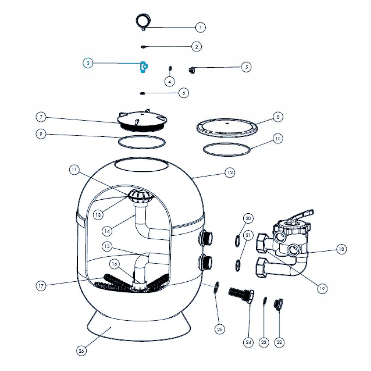 T- stück für Manometer für VIENNA II Filter T- stück für Manometer für VIENNA II Filter
