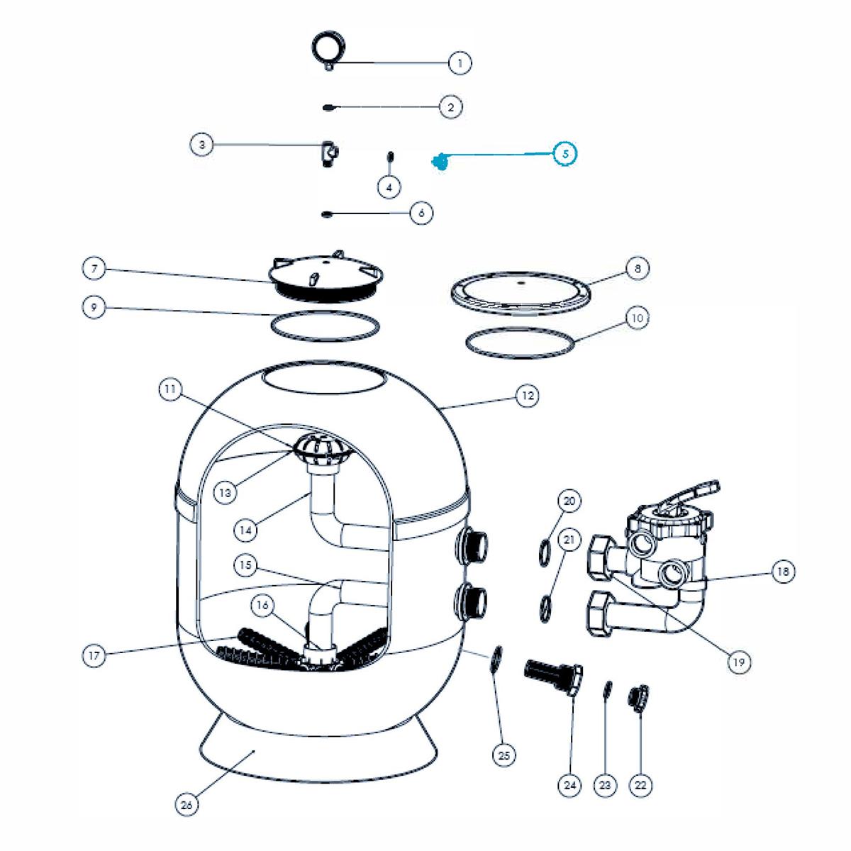 Entlüftungsschraube mit Flachdichtung für VIENNA II Filter Entlüftungsschraube mit Flachdichtung für VIENNA II Filter