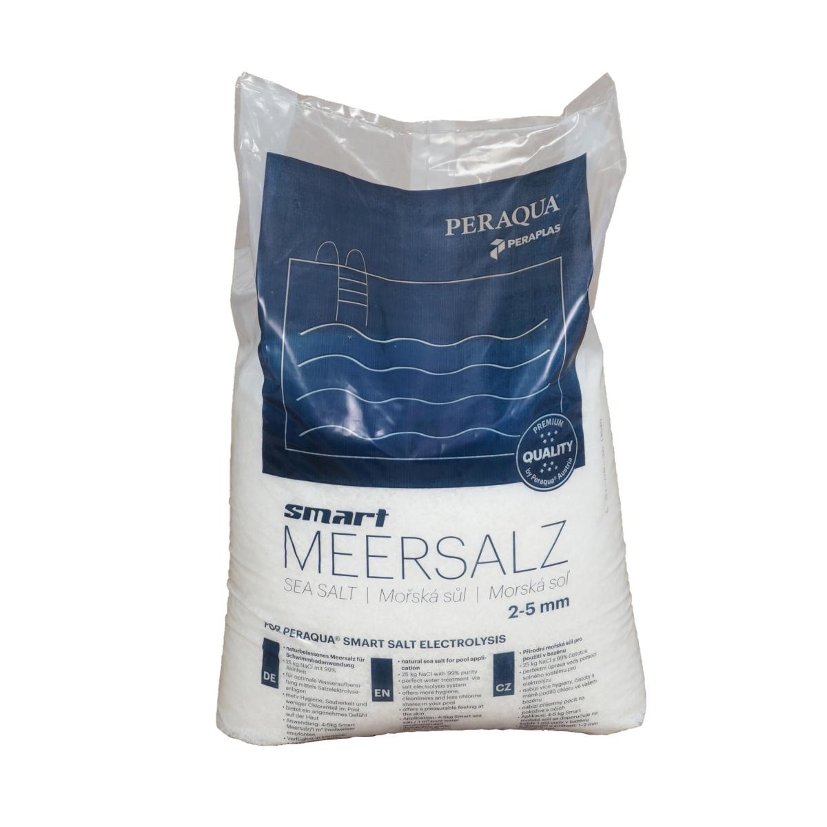 Smart Meersalz 2-5mm Körnung für die Verwendung in Verbindung mit Salzelektrolyseanlagen in Schwimmbadanlagen, 25 kg Sack Smart Meersalz 2-5mm Körnung für die Verwendung in Verbindung mit Salzelektrolyseanlagen in Schwimmbadanlagen, 25 kg Sack